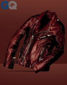 The Best Bloody Leather Jacket on the Planet Who Did It Best: Balmain /   In an era when any dad with decent air-guitar moves can pull off a black leather Joey Ramone jacket, the avant (and hella-expensive) label Balmain pushed this classic into new territory by reimagining it in oxblood. That instantly restored the moto jacket's rock 'n' roll edge, but just to be clear: There's still nothing wrong with black.