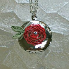 Quilled Flower Locket - Detail by all things paper, via Flickr