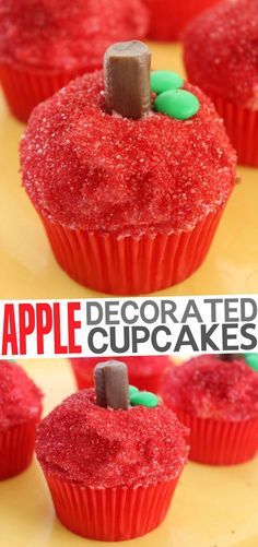 Apple Decorated Cupcakes