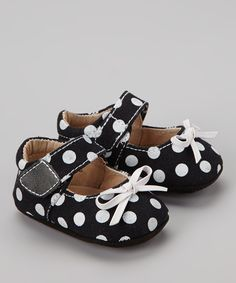 Black & White Polka Dot Mary Jane | Daily deals for moms, babies and kids