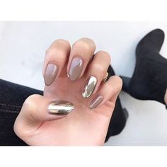 53 ideas nails acrylic almond simple for 2019 Acrylic Nail Art, Glitter Nail Art, Almond Nails Designs, Nail Designs, Mirror Nails, Nails 2018, Sexy Nails, Nail Patterns, Autumn Nails