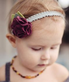 downloadable instructions and pattern for making this flower headband