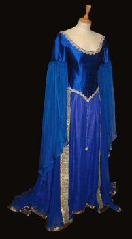 "Rossetti: Pre-Raphaelite/ Medieval Alternative wedding dress based on ""The Accolade"" Blair-Leighton"