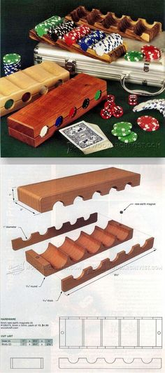 Poker Chip Tray Plans - Woodworking Plans and Projects | WoodArchivist.com