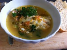 """Kakavia Greek recipe for fishermans soup in my book """"cooking & eating wisdom for better health"""". Learn in my book the various uses for healing of seafood in Ancient Greece."""