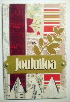 Joulukortti Cards, Home Decor, Decoration Home, Room Decor, Maps, Home Interior Design, Playing Cards, Home Decoration, Interior Design