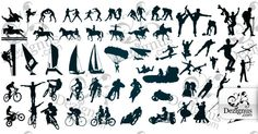 sport in vector silhouettes