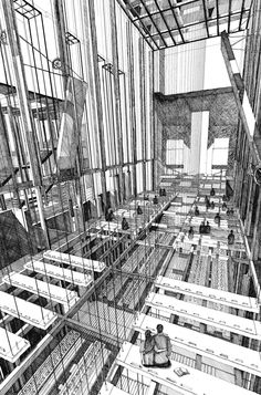 The Golden Wedding Chapel, Las Vegas. Bartlett School of Architecture, UCL. Bartlett School Of Architecture, Paper Architecture, Architecture Drawings, Landscape Architecture, Structural Drawing, Site Model, Drawing Machine, Building Sketch, Archi Design