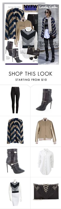 """60 Second Style: Best NYFW Street Style"" by hamaly ❤ liked on Polyvore featuring H&M, Giuseppe Zanotti, Zadig & Voltaire, MSGM, rag & bone, Ohne Titel, Elena Ghisellini, Christian Dior, women's clothing and women"