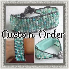New for Fitbit One wearers! CUSTOM ORDER  Leather wrap bracelet by MantovaniDesigns, $95.00