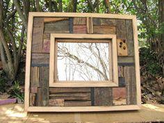 Barn Wood Mirror Barnwood Mirror Mosaic Mirror Rustic by Rustastic, $120.00