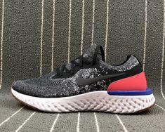 336387ba6c7e5 Factory Authentic Nike Epic React Flyknit Black White Hyper Crimson Black -  Mysecretshoes