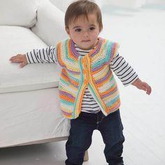 Lion Brand Ice Cream One Skein Wonder Vest #crochet #pattern