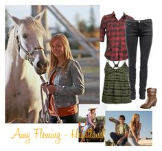 """""""Amy Fleming - Heartland"""" by savvynicole ❤ liked on Polyvore featuring Billabong, OBEY Clothing, Current/Elliott, heartland, cbc, horse, amber marshall, horses, amy fleming and ponies"""