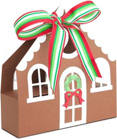 gingerbread house treat box tote------------------I think I'm in love with this shape from the Silhouette Online Store!