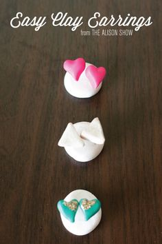 Easy polymer clay earring tutorial ... use for the triangle and fringe earrings on same site!