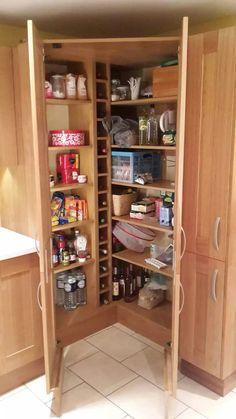 Corner larder/pantry cupboard