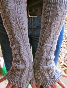 Knit Mitt Pattern:  Drunken Sailor Long Fingerless Mitt Knitting Pattern. $6.50, via Etsy.