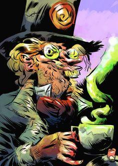 Mad Hat © Pal Christian Andersen from Batman Rogue Gallery Alice, Jervis Tetch, Gotham Villains, I Am Batman, Joker And Harley, Comic Art, Comic Book, Dark Knight, Rogues