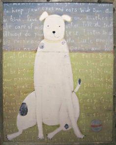 Sugarboo Designs Art Print AP118 White Boy Dog, Small, 24-Inch by 36-Inch by 2-Inch Sugarboo Designs http://www.amazon.com/dp/B005DXWCBO/ref=cm_sw_r_pi_dp_iHyRtb1MG81SKDRD