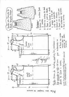 New how to sew dress diy free pattern Ideas Shirt Dress Pattern, Baby Dress Patterns, Kids Patterns, Pattern Ideas, Free Pattern, Sewing Clothes Women, Sewing Blouses, Creation Couture, Sewing Projects For Beginners