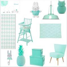 mint vert d'eau menthe couleur déco décoration chambre enfant bébé babayaga magazine