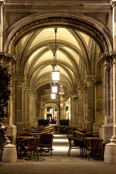 Cafe under the arches at the Vienna State Opera