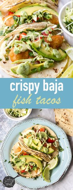 10 Most Misleading Foods That We Imagined Were Being Nutritious! Crispy Baja Fish Tacos Try These Authentic Beer-Battered Fish Tacos Topped With Slaw. These Easy Tacos Are All You Need Beer Battered Fish Tacos, Fried Fish Tacos, Easy Fish Tacos, Crispy Tacos, Fried Fish Sides, Sides For Fish Tacos, Baja Shrimp Tacos, Fish Recipes, Seafood Recipes