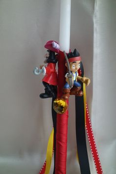 Pirates Easter Candle-Labada by pinelopiCreations on Etsy