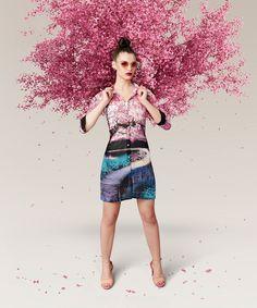 Viva N Diva Multi Color Digital Printed Soft Georgette Kurti@looksgud #Viva N Diva #Multi Color #Digital Print