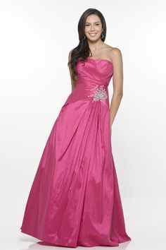 Discount Delightful Plum Strapless Embroider Beading Empire Taffeta Evening Dress (ED-099) Online