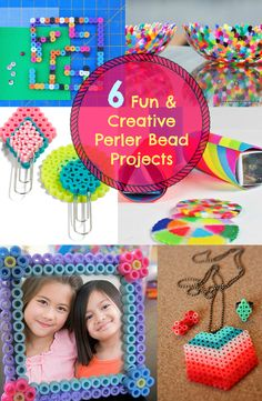 Here's a good idea for a weekend project with your kids. These Perler Bead Projects are fun and rewarding experience for them! Enjoy! See tutorials -----> http://www.discountqueens.com/6-fun-creative-perler-bead-projects/