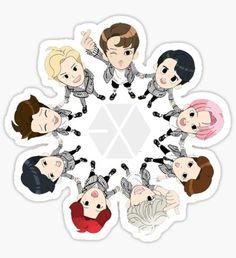 EXO OT 9 Sticker