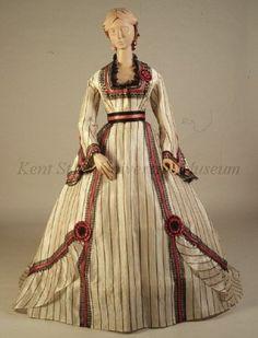 Dress, ca 1867, Kent State