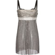 Dolce & Gabbana Chainmail Mini Dress ($20,000) ❤ liked on Polyvore featuring dresses, silver, ruching dress, short ruched dress, chain mail dress, short mini dress and gathered dress