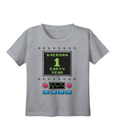 Loving this Gray Birthday Robot Age 1 Personalized Tee - Infant on #zulily! #zulilyfinds