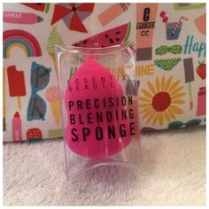Precision Blending Sponge Foundation Tool NEW Made by: Essential Beauty Pink Foundation Sponge New In The Package. Never used. Please see my ANYTIME $10 Bundle Poster for a great SaLE!! Thank you for browsing my closet. Essential Beauty Makeup Brushes & Tools