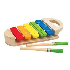 Hape Toys Rainbow Xylophone - Take notes! This sturdy xylophone lets kids practice colors as well as scales. Bebe Nature, Bebe 1 An, Hape Toys, Traditional Toys, Musical Toys, Learning Colors, Learning Toys, Toys Online, Pretend Play
