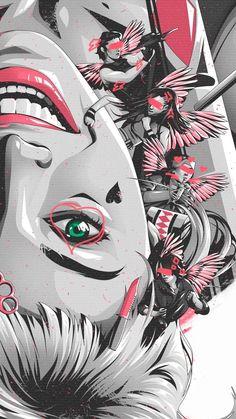 Joker Und Harley Quinn, Der Joker, Harley Quinn Drawing, Margot Robbie Harley Quinn, Joker Art, Wallpaper Wall, Wallpaper Animes, Iphone Wallpaper, Birds Of Prey