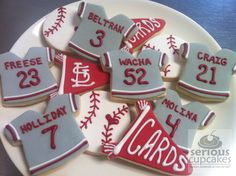 St Louis Cardinals Baseball Cookies Cookies Pinterest