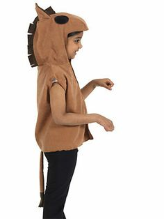 childrens/kids HORSE/PONY fancy dress costume fits 3-8
