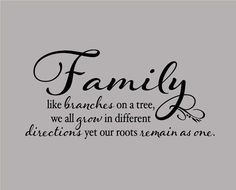 WALL DECAL 16x 24 Family like branches on a by JVCUSTOMVINYL