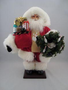 """Bowling Santa - Santa Claus Doll -  18"""" Tall - pinned by pin4etsy.com"""