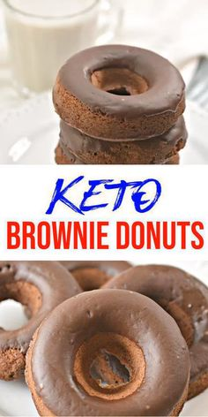 The post BEST Keto Brownies! Low Carb Keto Chocolate Brownie Donuts Idea Quick & Easy Ketogenic Diet Recipe Completely Keto Friendly Baking Gluten Free Sugar Free appeared first on Win Dessert. Brownies Cétoniques, Chocolate Brownies, Chocolate Donuts, Donut Recipes, Gourmet Recipes, Low Carb Recipes, Easy Recipes, Beef Recipes, Chicken Recipes