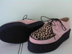 I want this Creeper Shoes so badly! #creepers #shoes #fashion #trend #apparel #pink #animal print