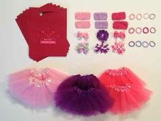 American Girl Party Favors & Activity for 6, Tutus, Bows, Bracelets, Goody Bags