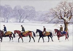 """Equestrian Christmas - """"Morning Exercise"""""""