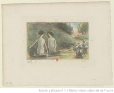 [Baigneuses gardeuses d'oies] [Camille Pissarro]
