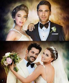 Amazing paintings Cat Eyeliner, Amazing Paintings, Turkish Actors, Hair Pictures, Kara, Besties, Tv Series, My Photos, Wedding Photos