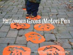 Halloween (Gross) motor fun: activities to get kids moving